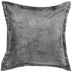 Gray Velvet Pillow Cover