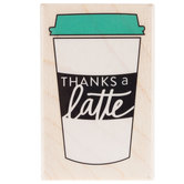 Thanks A Latte Rubber Stamp