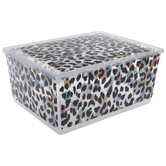 Multi-Color Leopard Print Container