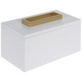 White & Gold Rectangle Wood Box