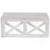 White Distressed Criss-Cross Wood Wall Shelf