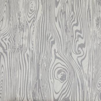 Gray & Ivory Mime Wood Grain Apparel Fabric