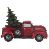 Red Vintage Truck With Tree
