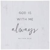 Matthew 28:20 Wood Wall Decor