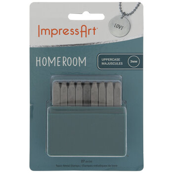 Homeroom Uppercase Letters Metal Stamps - 3mm