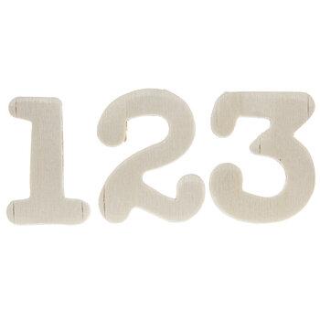 Typewriter Wood Numbers