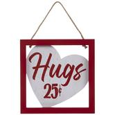 Hugs 25 Cents Wood Wall Decor