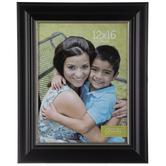 """Black & Silver Trim Wood Wall Frame - 12"""" x 16"""""""