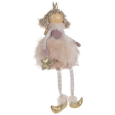 Pink Faux Fur Tutu Princess Shelf Sitter