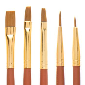 Taklon Paint Brushes - 18 Piece Set