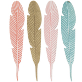 Feather Painted Wood Shapes