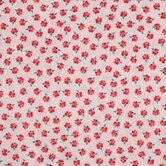 Pink & Red Floral Cotton Calico Fabric