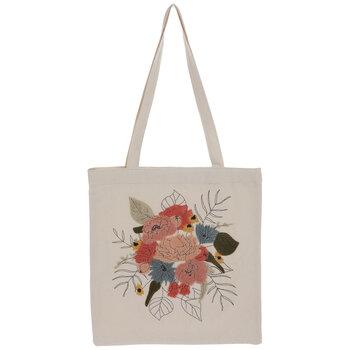 Pink Floral Tote Bag