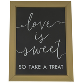 Love Is Sweet Wood Decor