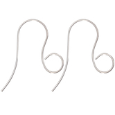 Silver Plated Ear Wires - 18mm x 22mm