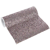 """Silver & Pink Glitter Faux Leather Ribbon - 7 1/2"""""""