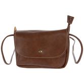 Brown Imitation Leather Crossbody Handbag