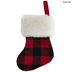 Red & Black Buffalo Check Mini Stocking