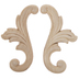 Feather Scroll Wood Appliques