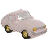 Pink Sports Car Ornament