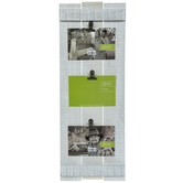 Whitewashed Wood Plank Clip Collage Frame