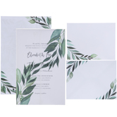 Leaves On Vellum Wedding Invitations