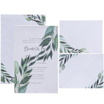 Leaves On Vellum Wedding Invitations