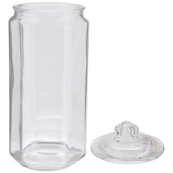 Hexagonal Glass Jar - 30 Ounce