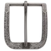 Antique Nickel Madison Metal Belt Buckle & Keeper