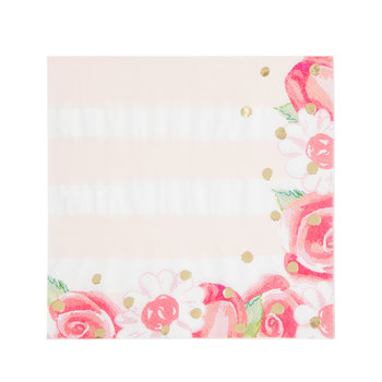 Floral Striped Napkins - Small