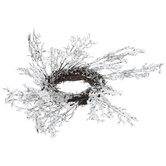 Frosted Branch Candle Ring