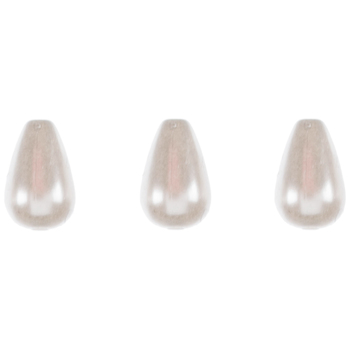 Teardrop Acrylic Pearl Beads - 10mm