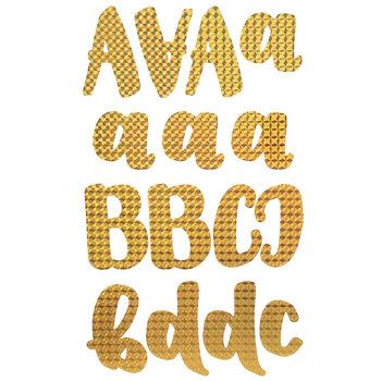 Gold Sparkle Handwritten Alphabet Stickers