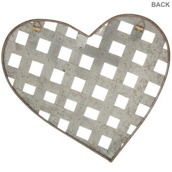 Galvanized Metal Heart Wall Decor