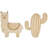Llama & Cactus Wood Bobbins
