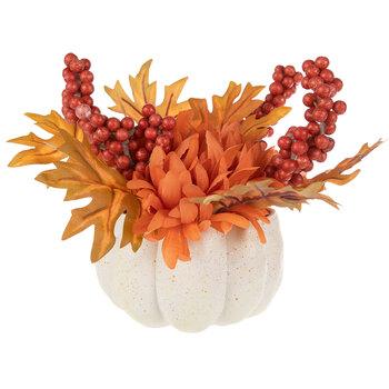 Orange Mums & Berries Arrangement