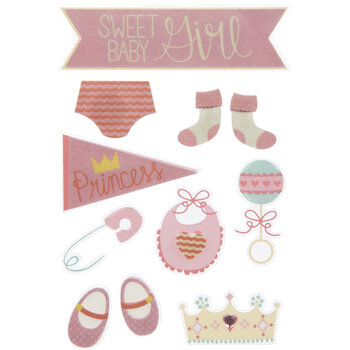 Baby Girl 3D Stickers
