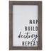 Nap Build Destroy Repeat Wood Wall Decor