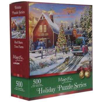 Red Barn Tree Farm Puzzle