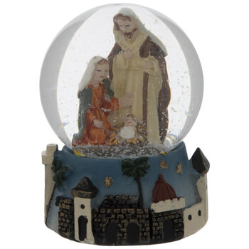 Mini Nativity Snow Globe