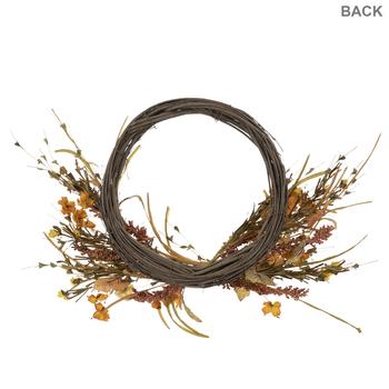 Sunflower & Dried Grass Twig Wreath