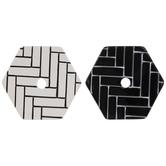 Black & White Brick Print Hexagon Coasters