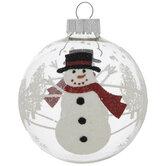 Glitter Snowman & Tree Ball Ornaments