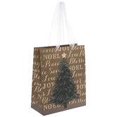Christmas Sayings Tree Gift Bag