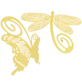 Gold Dragonfly & Butterfly Metal Bookmarks