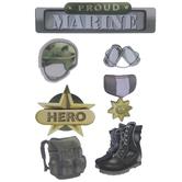 Marines 3D Stickers