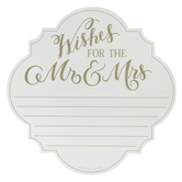 Wishes For The Mr. & Mrs. Advice Notepad