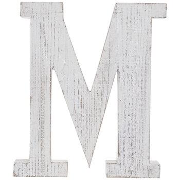 Whitewash Wood Letter Wall Decor M Hobby Lobby 80781682