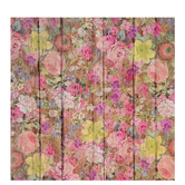 "Floral Wood Self-Adhesive Vinyl - 12"" x 12"""