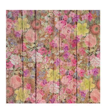 """Floral Wood Self-Adhesive Vinyl - 12"""" x 12"""""""